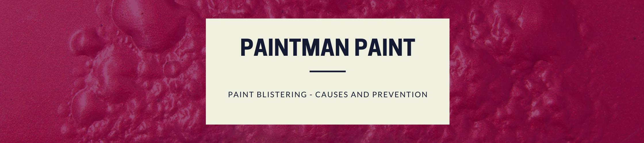 paint blistering